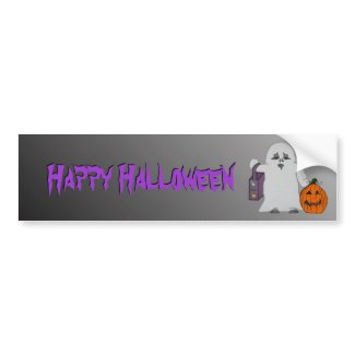 Halloween Spooky Ghost Bumper Sticker bumpersticker