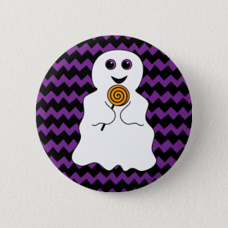 Halloween Spooky Ghost with Lollipop Button