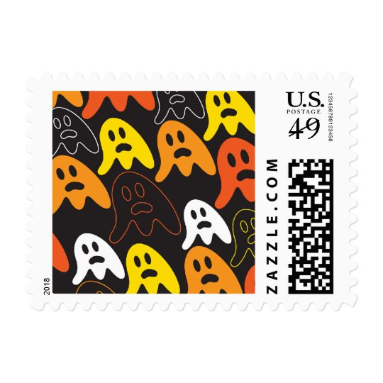 Halloween Spooky Ghosts Holiday Custom Stamps