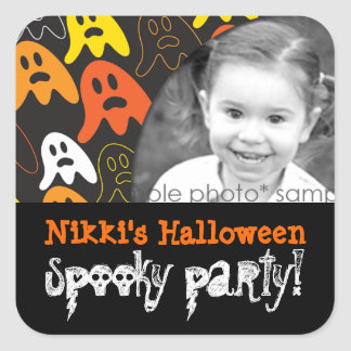 Halloween Spooky Ghosts Party Photo Sticker