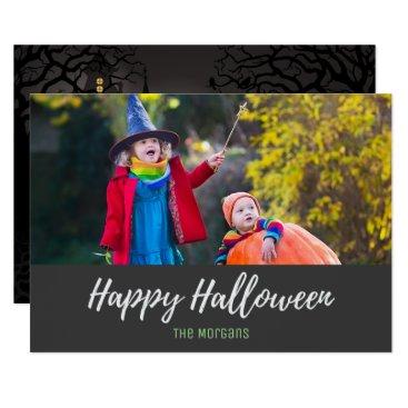 Halloween Themed Halloween Spooky Haunted Hotel Photo Card