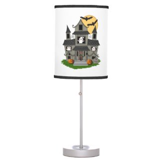 Halloween Spooky House Desk Lamps