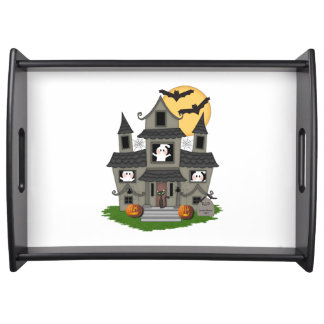 Halloween Spooky House Serving Tray