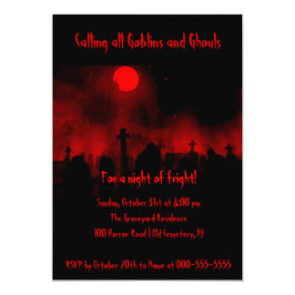 Halloween Spooky Night of Fright Party Invites Invite