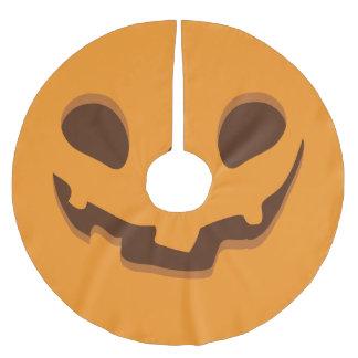 Halloween Spooky Pumpkin Face Brushed Polyester Tree Skirt