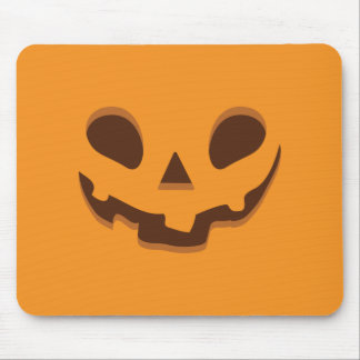 Halloween Spooky Pumpkin Face Mouse Pad