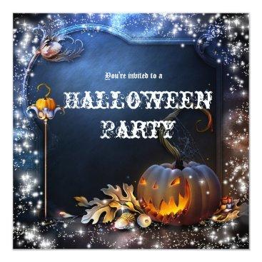 printabledigidesigns Halloween Spooky Pumpkin Magic Party Invitation