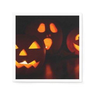 Halloween Spooky Pumpkin Paper Napkin