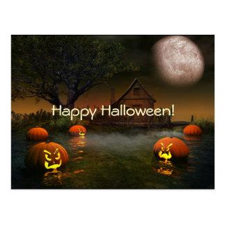 Halloween Spooky Scenes Postcard