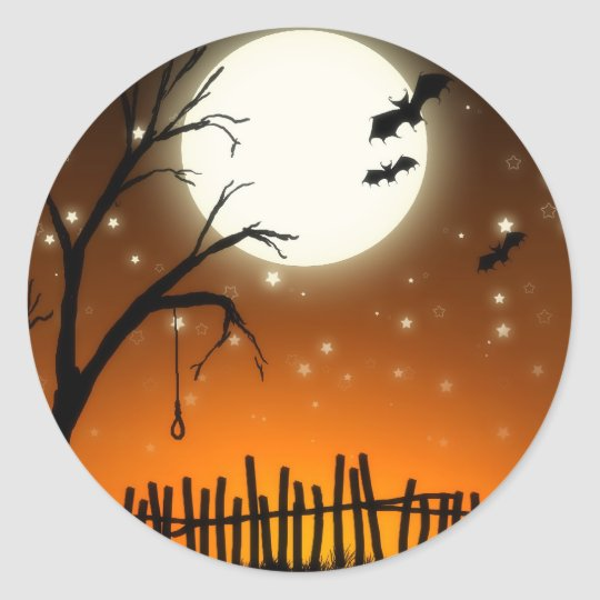 Halloween Spooky Silhouettes Sticker