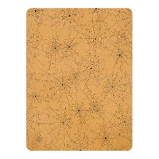 Halloween Spooky Spider Webs Pattern 6.5x8.75 Paper Invitation Card