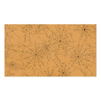 Halloween Spooky Spider Webs Pattern Business Cards