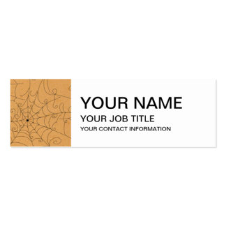 Halloween Spooky Spider Webs Pattern Business Card Template