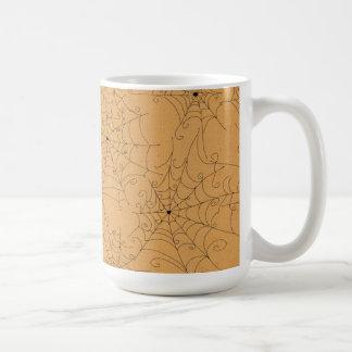 Halloween Spooky Spider Webs Pattern Coffee Mug