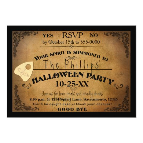 Halloween Spooky Spirit Board Party Invitation