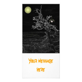 Halloween Spooky Tree Photocard Photo Card