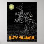 Halloween Spooky Tree Poster