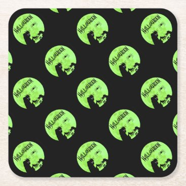 Halloween Themed Halloween Square Paper Coaster