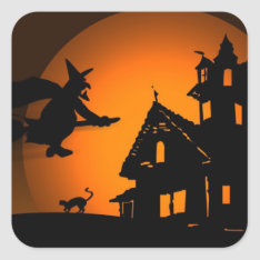 Halloween Square Sticker at Zazzle