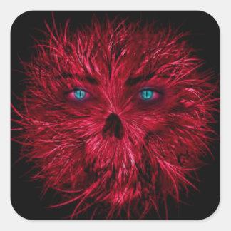 Halloween  Square Stickers/Creepy Monster Square Sticker