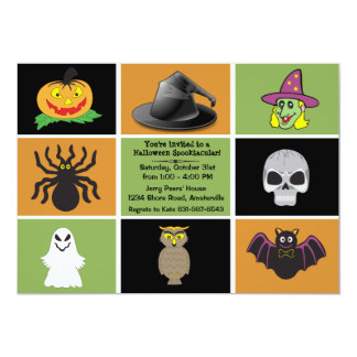 Halloween Squares Party Invitation