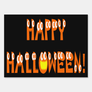 Halloween Squash Text Sign