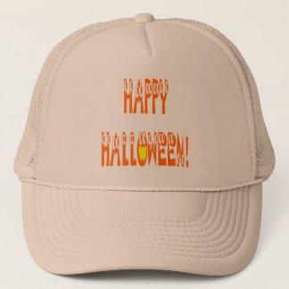 Halloween Squash Text Trucker Hat