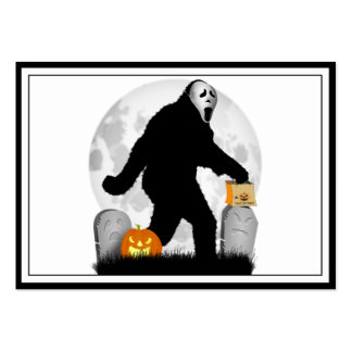 Halloween Squatchin' (Add Background Color) Large Business Cards (Pack Of 100)
