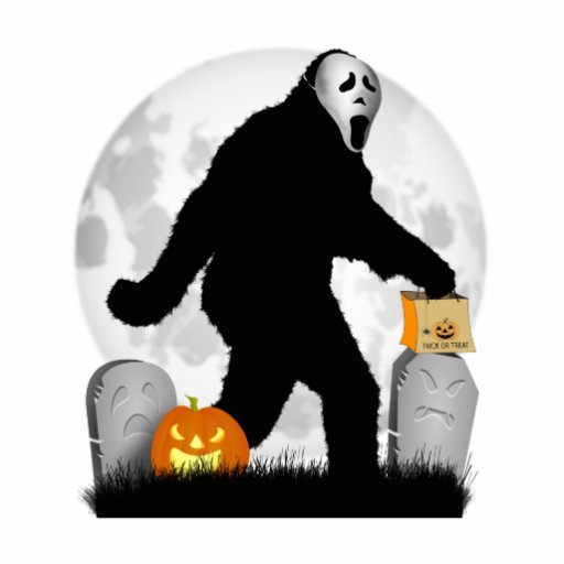 Halloween Squatchin' (Add Background Color) Cut Out