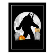 Halloween Squatchin' Postcards