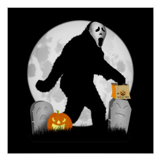 Halloween Squatchin' Posters