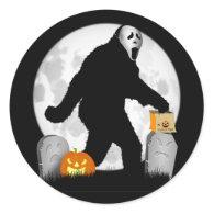 Halloween Squatchin' Round Sticker