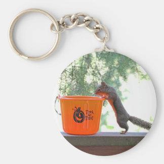 Halloween Squirrel Basic Round Button Keychain