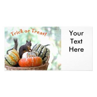 Halloween Squirrel Photo Card Template