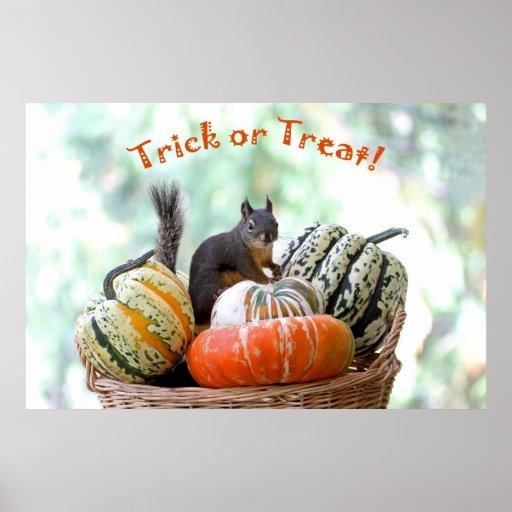 Halloween Squirrel Poster