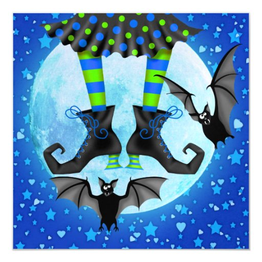 "Halloween - SRF Invitación 5.25"" X 5.25"""