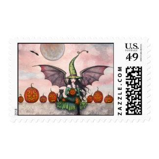 Halloween Stamps Witch Cat