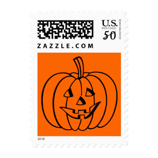 Halloween stamps with carved pumpkin face