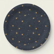 Halloween Starry Night Paper Plate