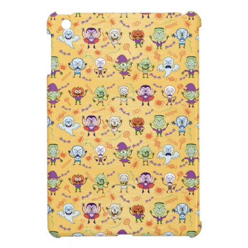Halloween stars in a single surface pattern design case for the iPad mini