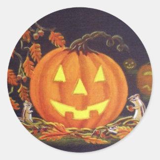 Halloween Sticker Chipmunks,Jack-O-Lanterns