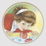 Halloween Stickers - Bobbing for apples
