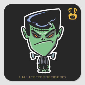 Halloween Stickers - Cartoon Frankenstein Monster