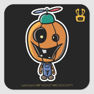 Halloween Stickers - Cartoon Peter Pumpkin Head