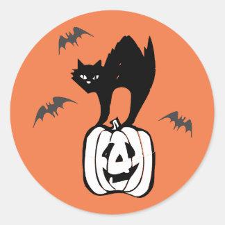 """""""Halloween Stickers"""" Classic Round Sticker"""