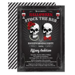 Halloween Stock The Bar housewarming party Invitation