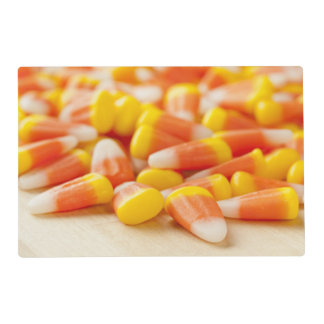 Halloween Striped Candy Corn Laminated Placemat