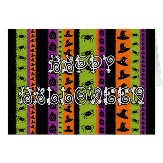 Halloween Stripes Card