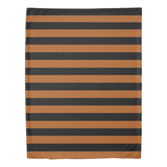 Halloween Stripes Duvet Cover