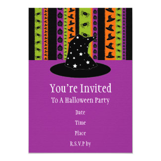 Halloween Stripes Halloween Party Invitation